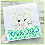 Boy Bunny Banner Applique - embroidery-boutique