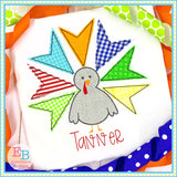 Turkey Boy Bean Stitch Applique, Applique