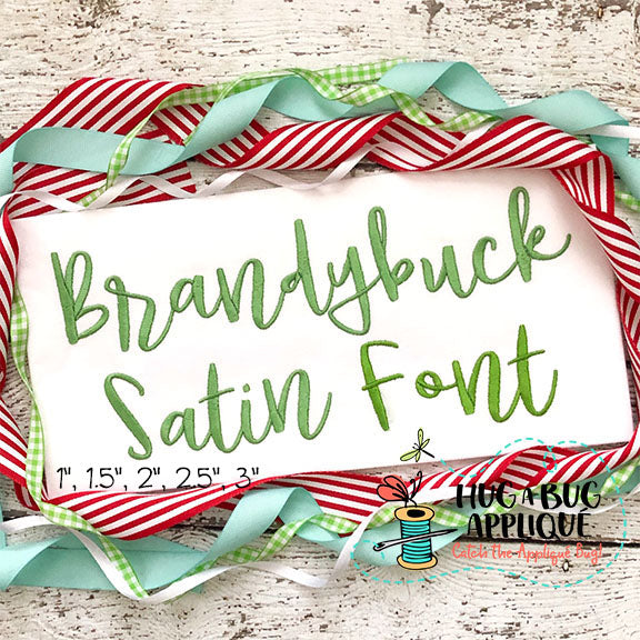 Brandybuck Satin Stitch Embroidery Font