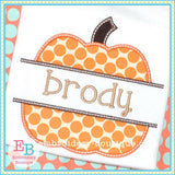 Split Pumpkin Applique, Applique