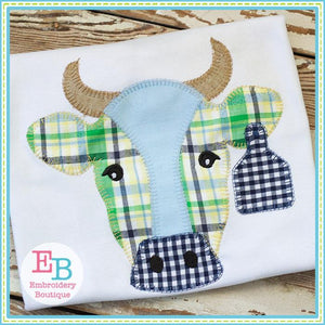Bull Blanket Stitch Applique - Embroidery Boutique