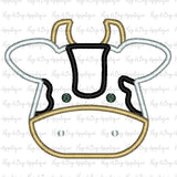 Bull Satin Stitch Applique Design, Applique
