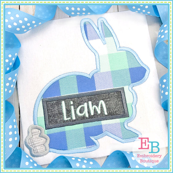 Simple Bunny Satin Applique