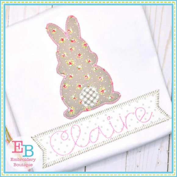 Bunny Back Side Applique