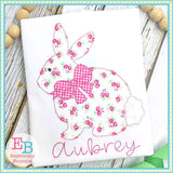 Bunny 2 with Bow Bean Applique