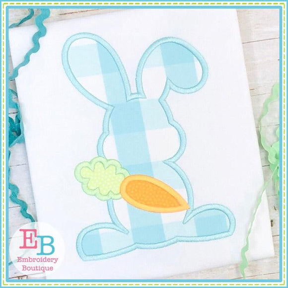 Bunny with Carrot Satin Applique
