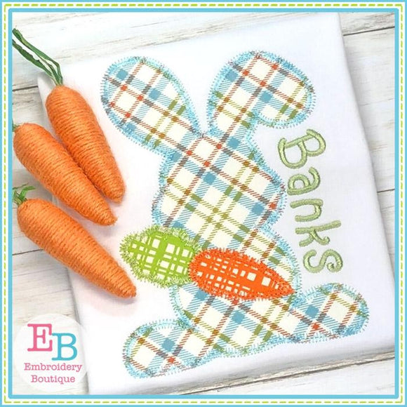 Bunny with Carrot Zigzag Applique
