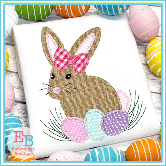 Bunny Eggs Zigzag Applique
