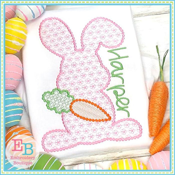 Bunny Floral Motif with Carrot Design