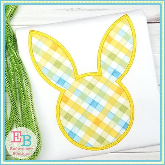 Bunny Head Silhouette Satin Applique