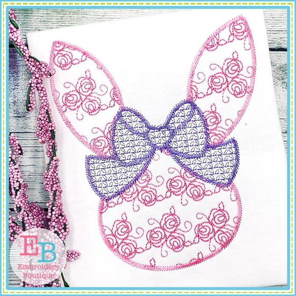 Roses Motif Bunny Head Design