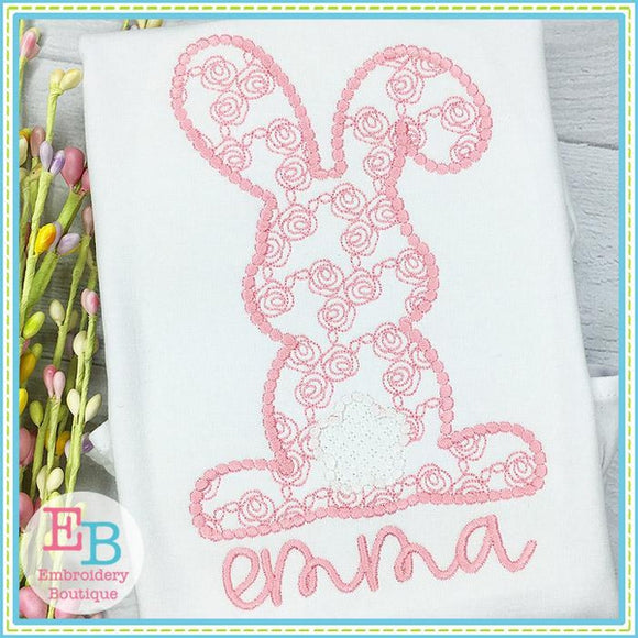 Bunny Backside Rose Motif Design