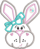 Bunny Bow Satin Applique, Applique