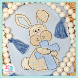 Bunny Cross Bean Stitch Applique, Applique