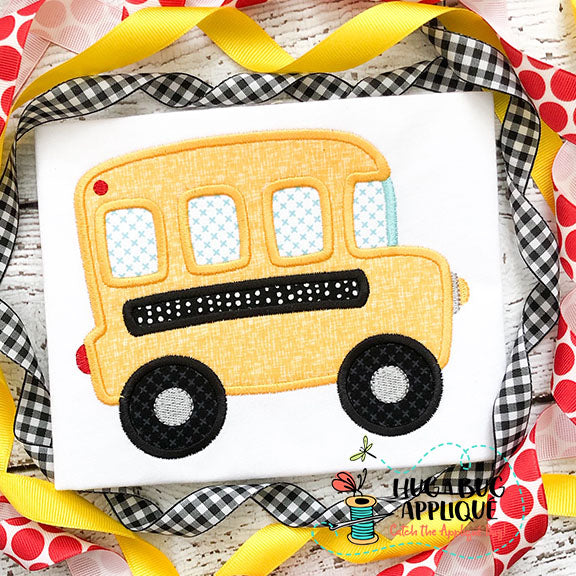 Bus Satin Stitch Applique Design-Embroidery Boutique