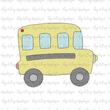 Bus Sketch Stitch Embroidery Design, Embroidery
