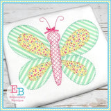 Butterfly Blanket Stitch Applique, Applique