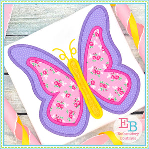 Butterfly Satin Applique-Embroidery Boutique