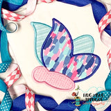 Butterfly Satin Stitch Applique Design