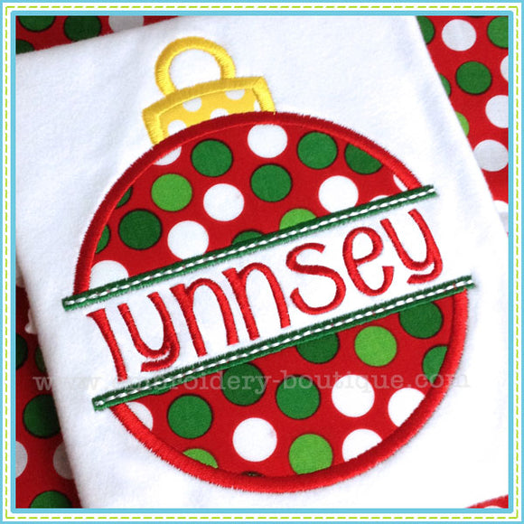 Split Ornament Applique - embroidery-boutique