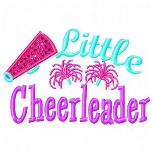 Little Cheerleader Applique - embroidery-boutique