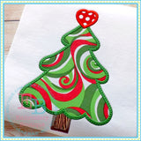 Christmas Tree Heart Applique - embroidery-boutique