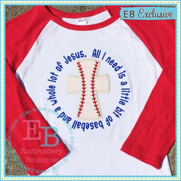 Baseball Jesus Applique, Applique