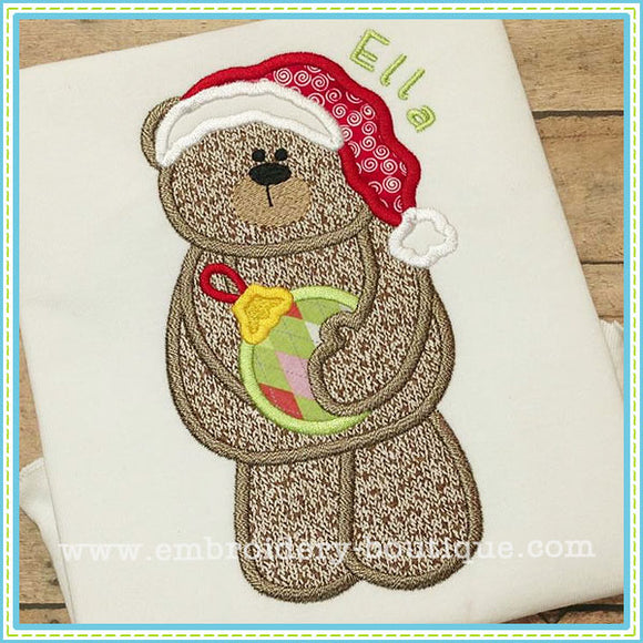 Ornament Bear Applique, Applique