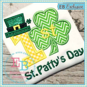 First St. Patty's Applique, Applique