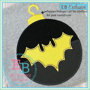 Bat Ornament Applique - embroidery-boutique