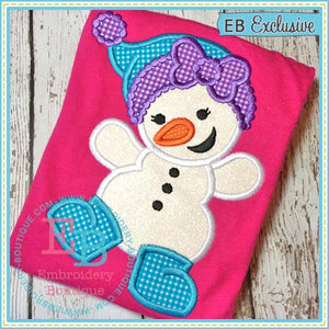 Snowgirl Applique - embroidery-boutique