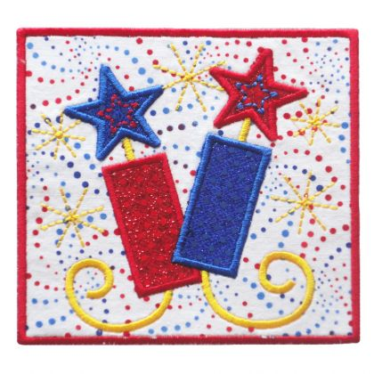 Firecracker Patch Applique - embroidery-boutique