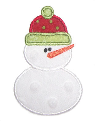 Simple Snowman Applique - embroidery-boutique
