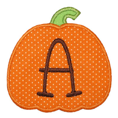 Pumpkin Applique Alphabet