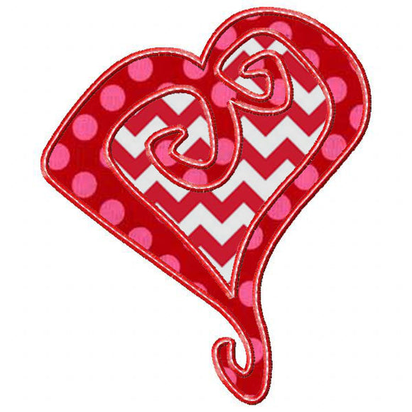 Whimsical Heart Applique