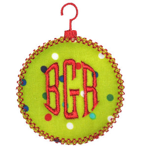 Round Vintage Ornament Applique - embroidery-boutique