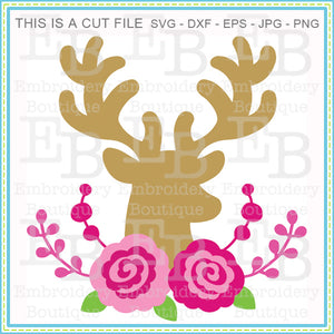 Deer Heart Rose SVG