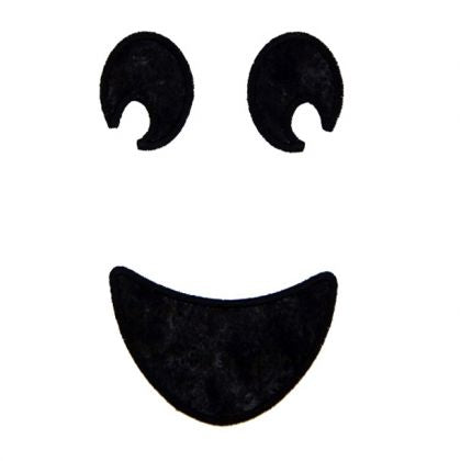 Happy Ghost Face - embroidery-boutique