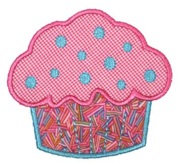 Cupcake Applique - embroidery-boutique