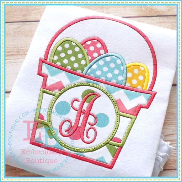 Monogram Easter Basket - embroidery-boutique