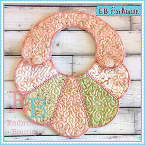 ITH Scalloped Fan Bib - embroidery-boutique