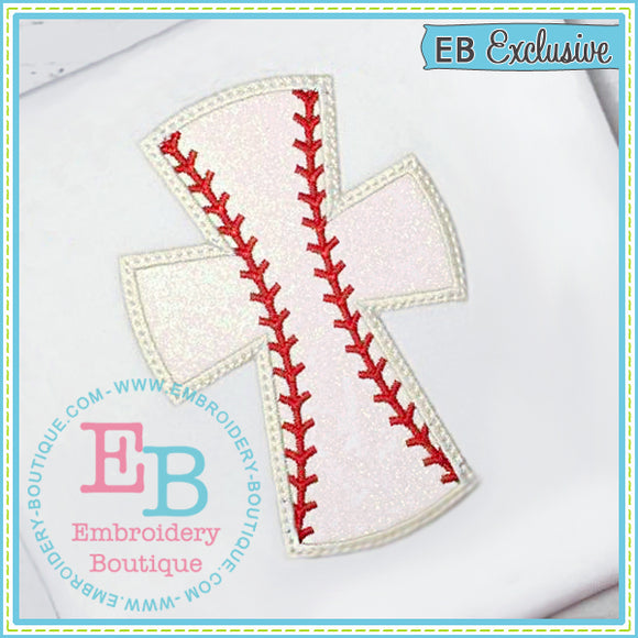 Baseball Cross Applique, Applique