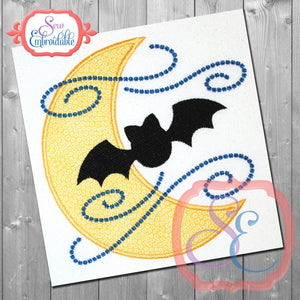 Batty Moon Applique - embroidery-boutique