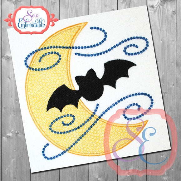 Batty Moon Applique