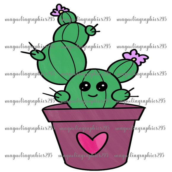 Cactus Printable Design PNG-Embroidery Boutique