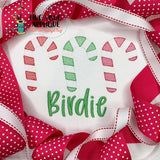 Candy Cane Trio Sketch Stitch Embroidery Design, Embroidery
