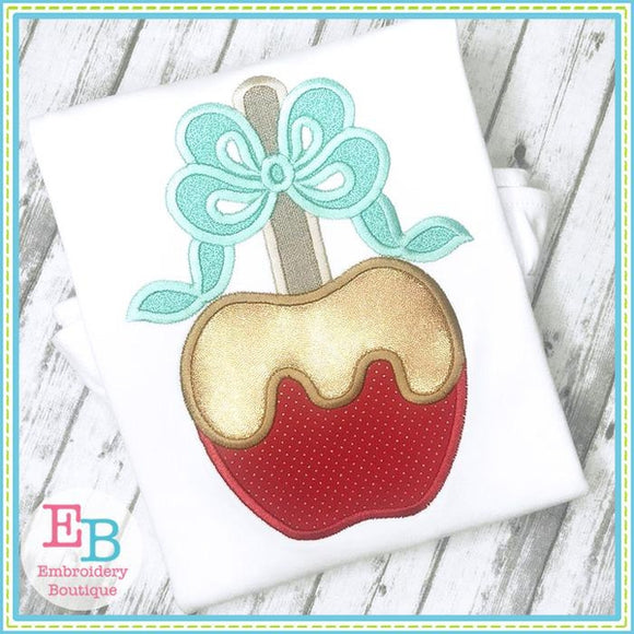 Caramel Apple Applique - embroidery-boutique