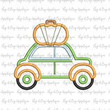 Car Pumpkin Satin Stitch Applique Design, Applique