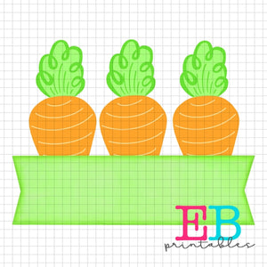 Carrot Banner Sublimation Printable Design PNG