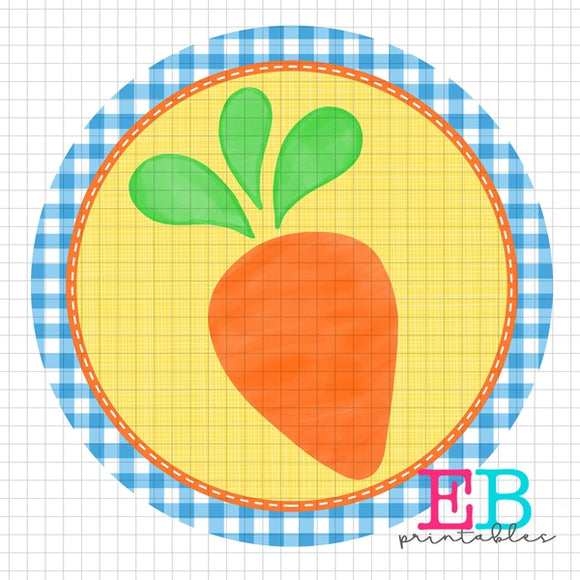 Carrot Circle Sublimation Printable Design PNG